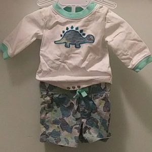 Gymboree camo Dinosaur set